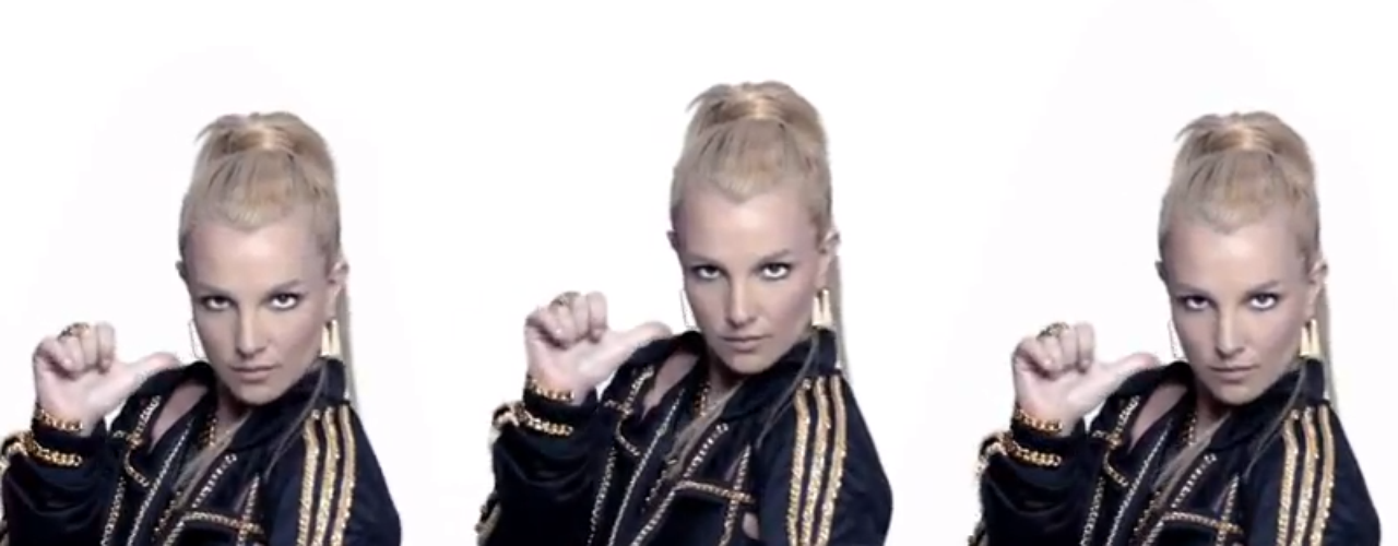 Britney Spears looks hot in Jeremy Scott adidas gear and other sexy black outfits in Will.i.am's 'Scream & Shout' remix video featuring  P. Diddy, Lil Wayne, Hit-Boy y Waka Flocka Flame.