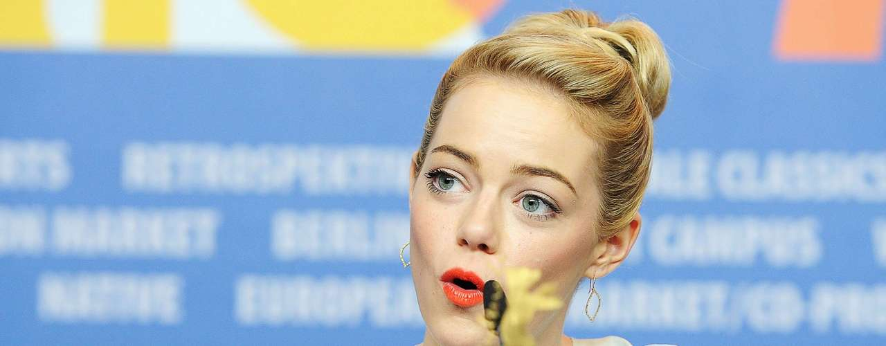 A myriad of Emma Stone's facial expressions were captured at The Croods press conference during the 63rd Berlinale International Film Festival in Berlin, Germany on February 15. Take a look as she ranges from smiling and adorable to pensive and intrigued to total mean girl and back again!