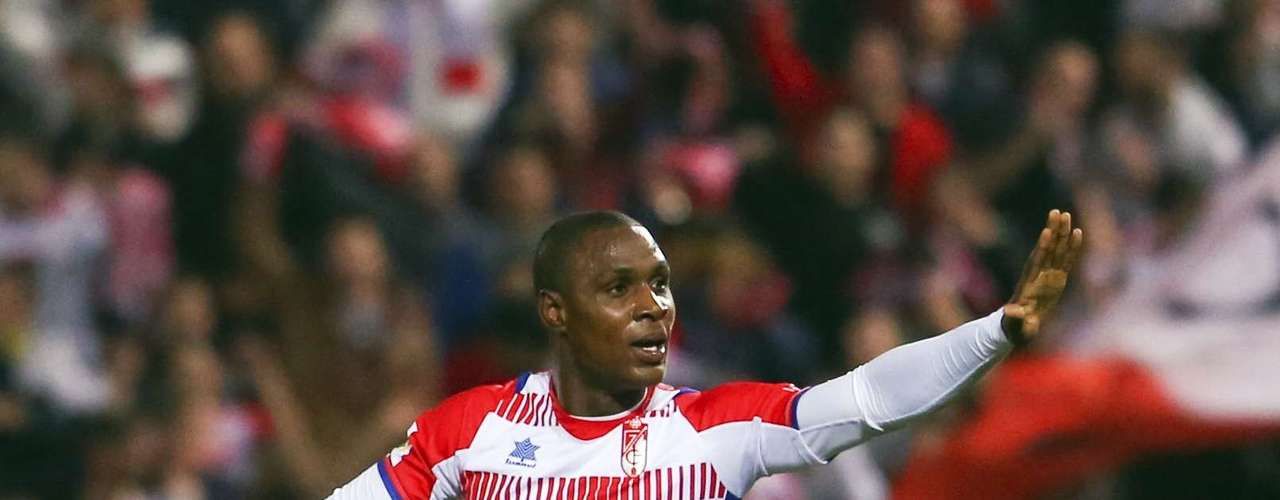 Granada's Odion Ighalo reacts after his goal. REUTERS/Pepe Marin