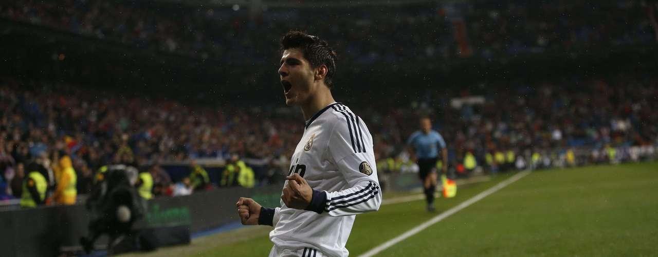 Alvaro Morata celebrates his goal.