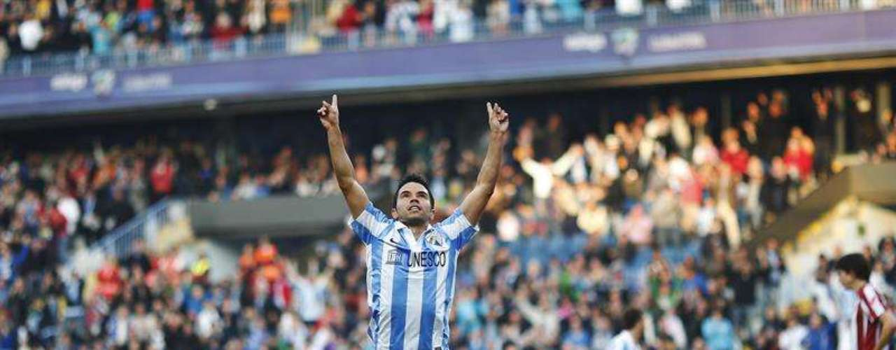 Javier Saviola gave Malaga three points (1-0) against Athletic Club, at La Rosaleda.