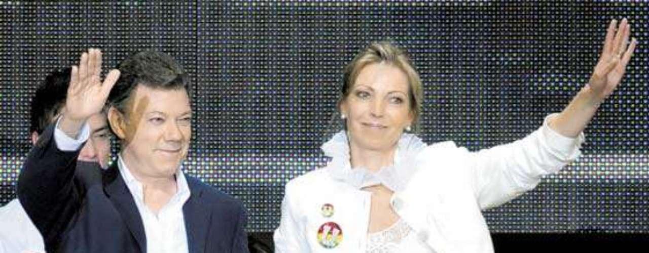 Colombia. María Clemencia Rodríguez de Santos, esposa del presidente Juan Manuel Santos.