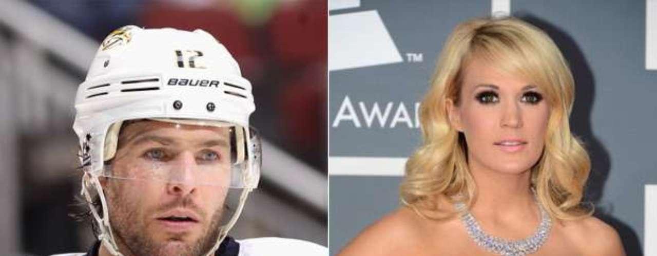 Mike Fisher y Carrie Underwood: El jugador canadiense de hockey y la cantante de música country se casaron en 2010, después de salir juntos desde 2008 y comprometerse en 2009.