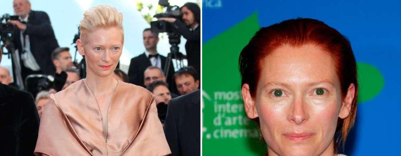 La también ganadora del Oscar, Tilda Swinton, siempre ha sido juzgada por su belleza andrógina. Depende del ojo de quien la mire.