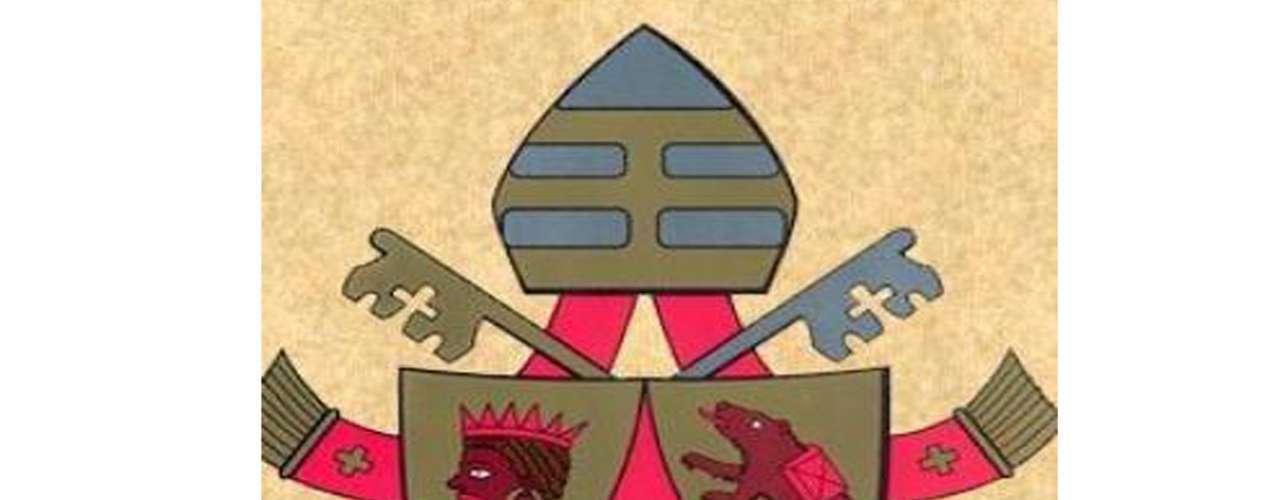 Escudo y lema. El cardenal Joseph Ratzinger tenía en su escudo arzobispal y cardenalicio la frase \