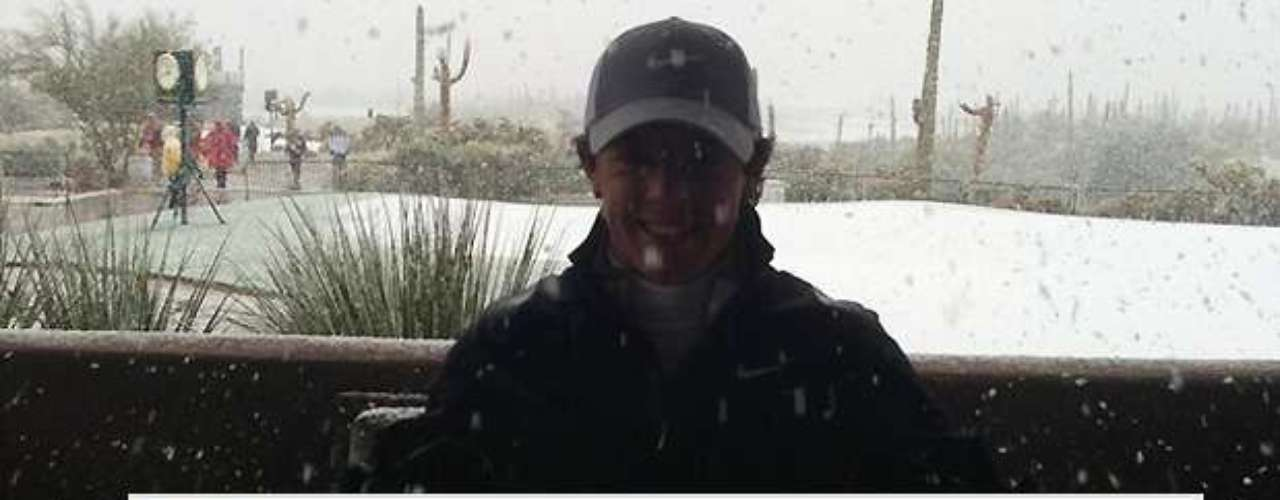 Rory McIlroy tweeted this photo of the snow in Arizona that halted Match Play.