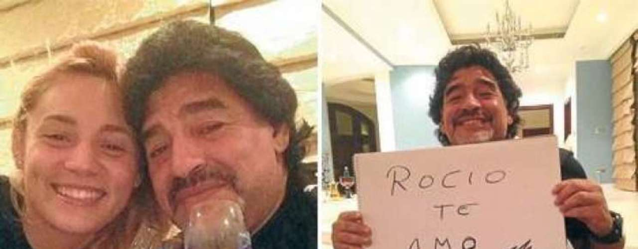 Después de su separación el año pasado de largo noviazgo con Verónica Ojeda, Diego Maradona parece haber encontrado el amor de nuevo.