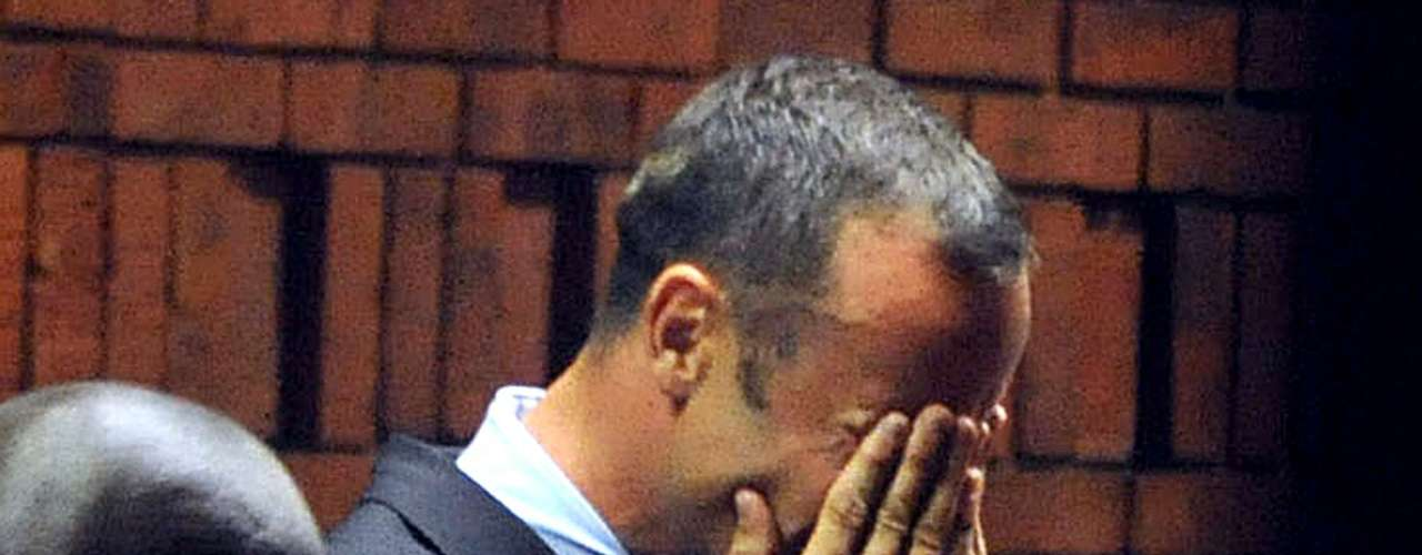 Pistorius told those in the courtroom four days later that it had been an accidental shooting, that he thought Steenkamp was a robber, and he sobbed as his lawyer read his statement. The prosecution countered that it was premeditated murder.
