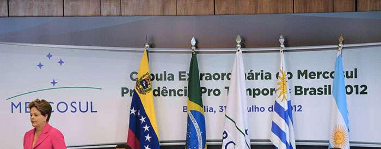 """""""Para nosotros, Paraguay (uno de los cuatro fundadores del grupo en 1991) no estaba en ejercicio de su derecho de voto cuando se resolvió el ingreso de Venezuela"""", indicó."""