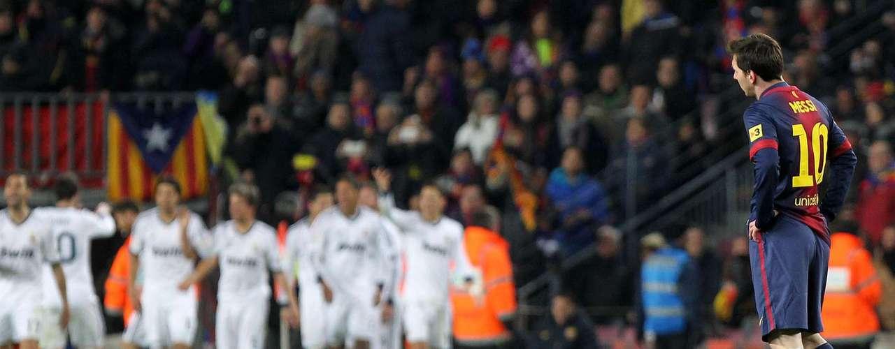 La siguiente decepción de Messi se presentó en la semifinal de vuelta ante el Real Madrid.