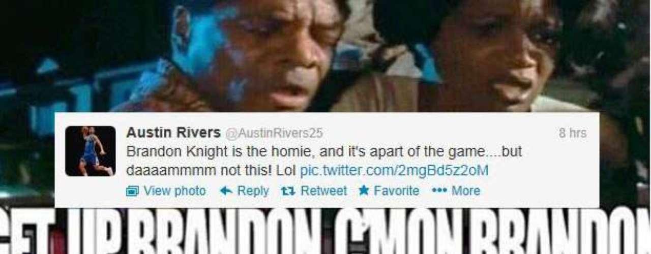 Austin Rivers, hijo de Doc, tuiteó este meme celebrando el mate.
