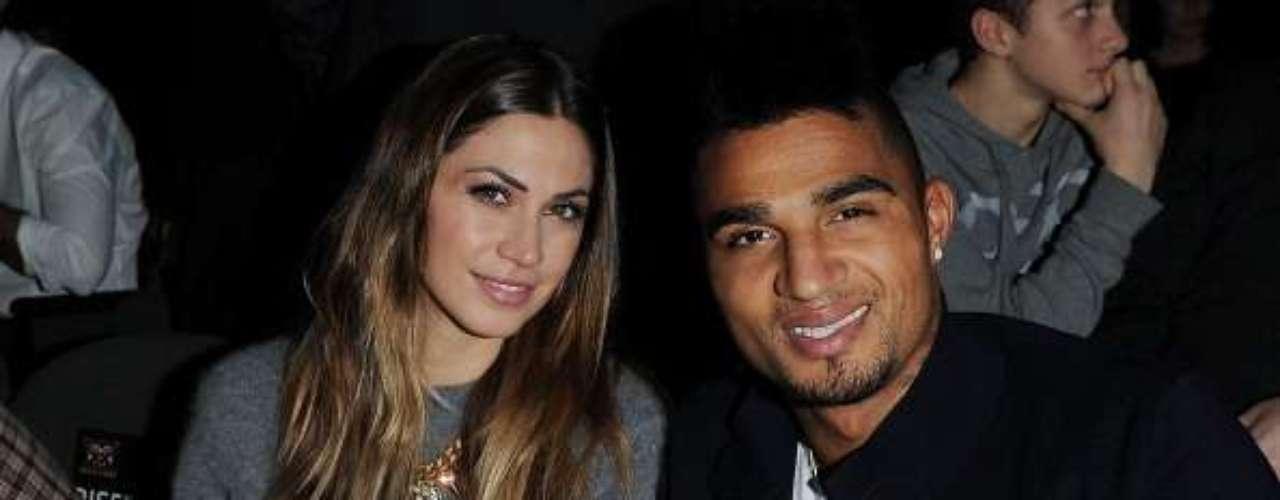 Kevin-Prince Boateng y Melissa Satta: El mediocampista del Milan y la bella modelo italoamericana son novios desde noviembre de 2011 y en este momento están comprometidos.