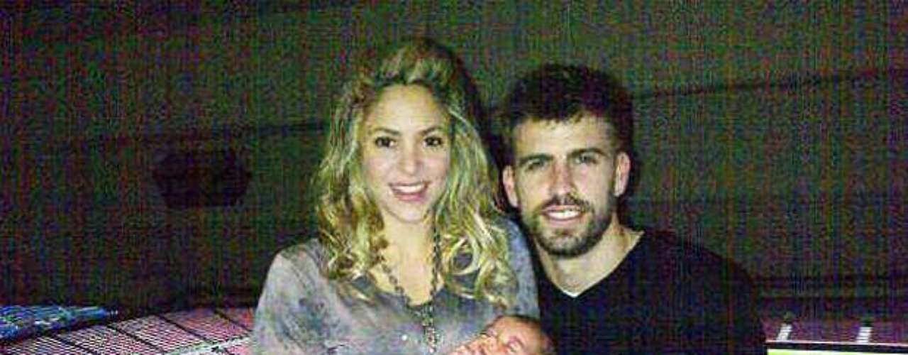 Gerard Pique, Shakira and son Milan celebrate at the Camp Nou after Barcelona's impressive 4-0 over AC Milan in the Champions League. Pique put the photo up on his Twitter account after the game Tuesday. Several of his teammates also took to social media to celebrate. Continue on to see the rest of their tweets and posts.