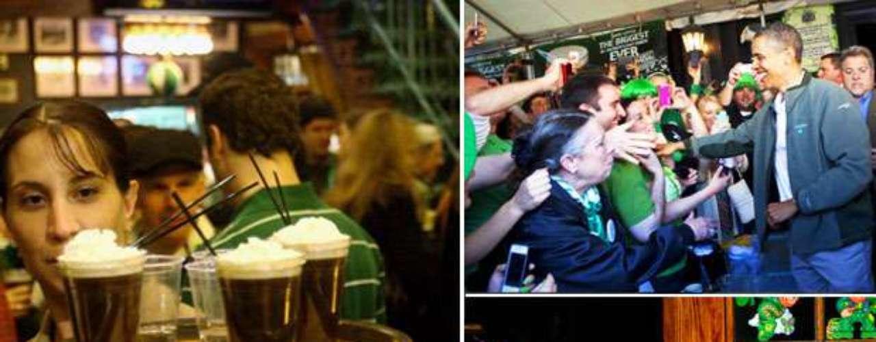 San Patricio es un santo que se venera con cerveza. Siguiendo la tradición irlandesa todos salen a festejar con la popular bebida.