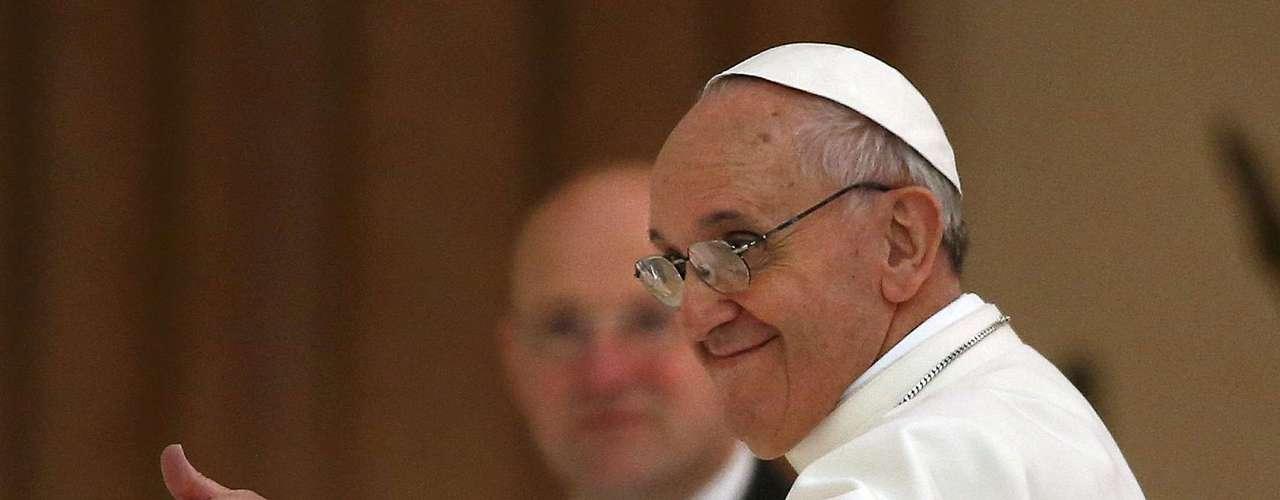 En la audiencia el papa Francisco demostró una vez más su cercanía y buen humor