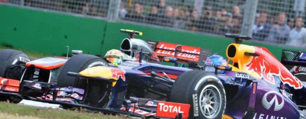 Sebastian Vettel se dijo satisfecho por el resultado, tercer lugar, por detrás de Raikkonen y Alonso.