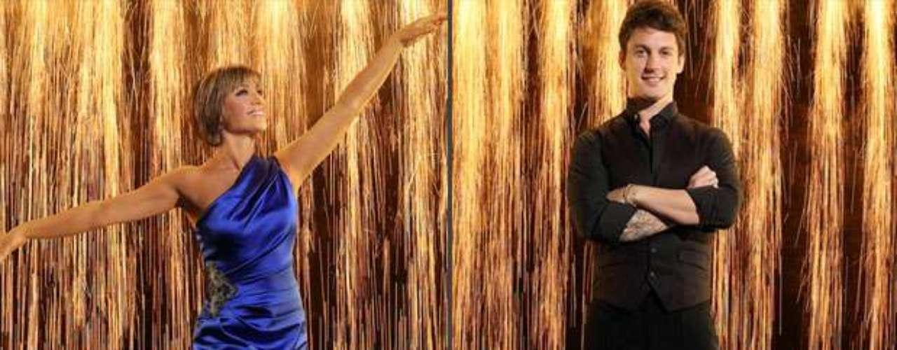 Dorothy Hamill y Tristan Macmanus. La patinadora y medallista olímpica ya lleva el ritmo en la sangre. Tristan,que bailó con Pamela Anderson,será el encargado de introducirla al baile de salón.