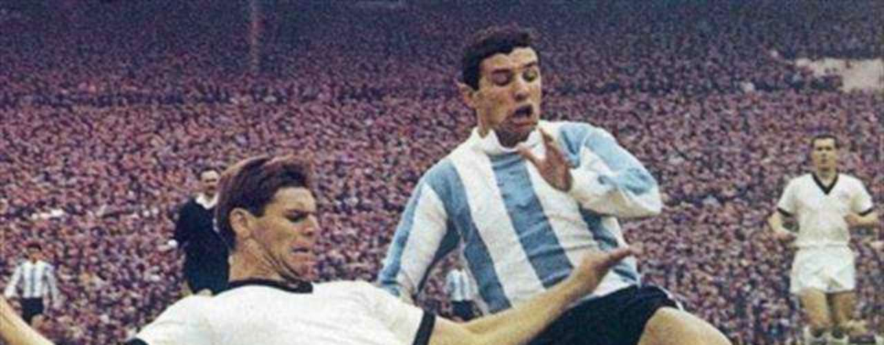 Luis Artime: He played for the national team from 1961 to 1967and scored almost a goal a game with 24 in 25 games.