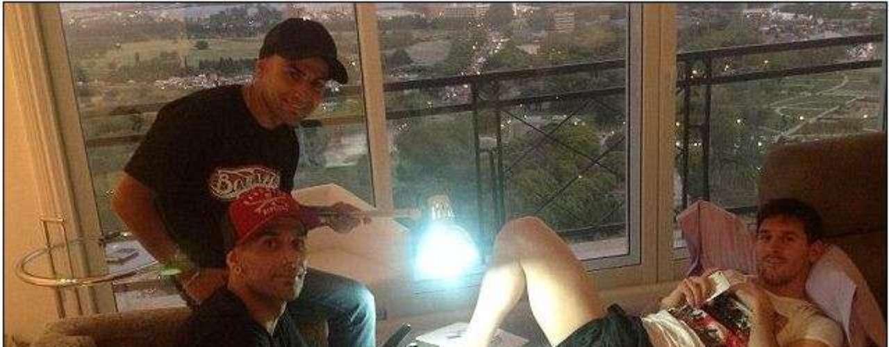 Lionel Messi publicó fotos para su club de fans mostrándole el tatuaje en honor a su hijo.