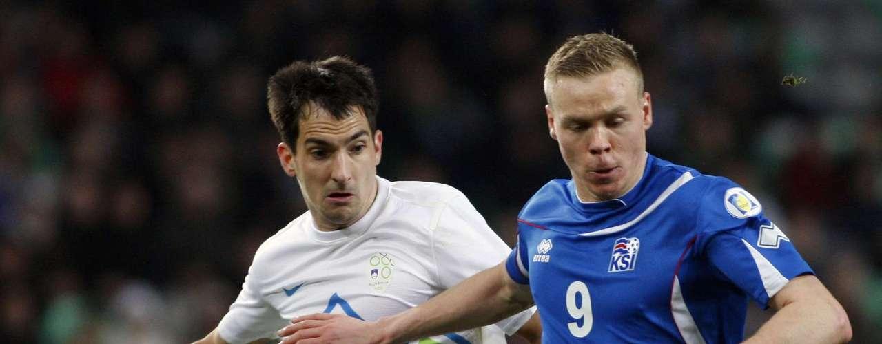 Islandia venció este viernes a Eslovenia por 2-1.