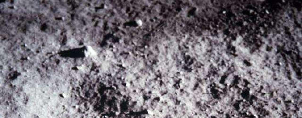 La huella del hombre en la Luna.