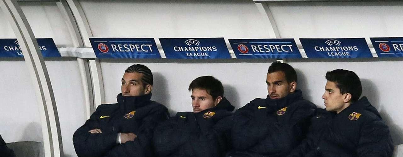 Volviendo a Messi, el delantero argentino no estuvo muy contento en el banco después de su lesión, pues no es nada fácil 'ver los toros desde la barrera'.