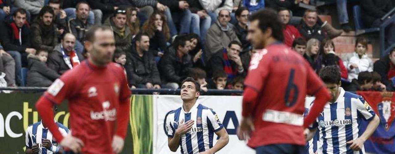 Héctor Moreno marcó el primer gol de los Periquitos, con un remate de cabeza.