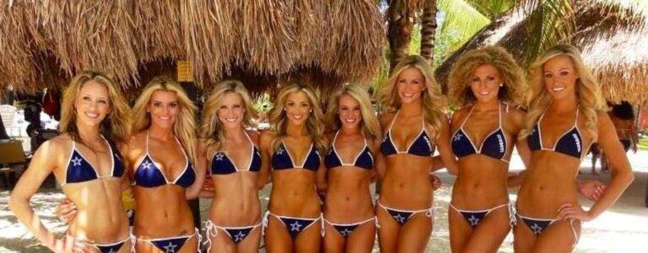Jordan Elizabeth, cheerleaderde Dallas Cowboys,subió a su twitter imágenes de lo que será el calendario de las famosas porristas.
