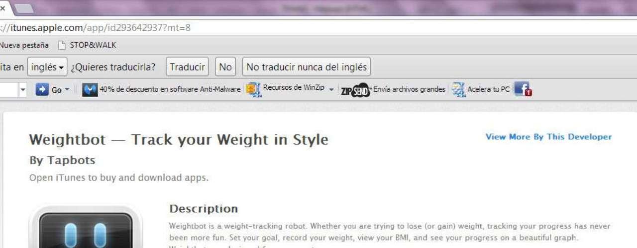 Con Weightbot tu coach nutricional será un robot.