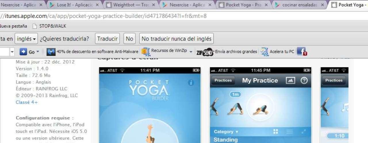 Con Pocket Yoga sólo tienes que colocartu smartphone frente a tu esterilla de yoga y practicar cada día.
