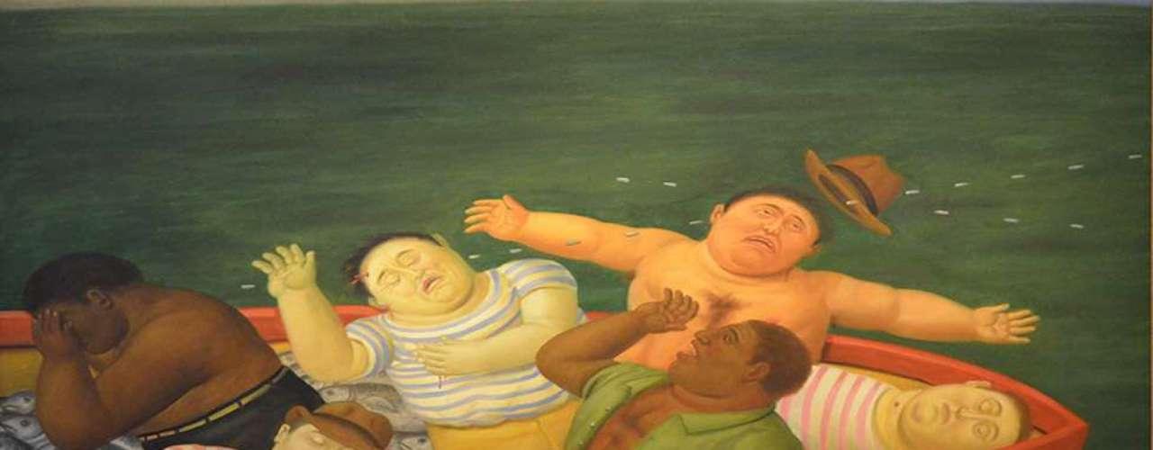 Muchas de las obras están inspiradas en la masacre de Ciénaga Grande, donde un grupo paramilitar asesinó a 60 pescadores colombianos. \