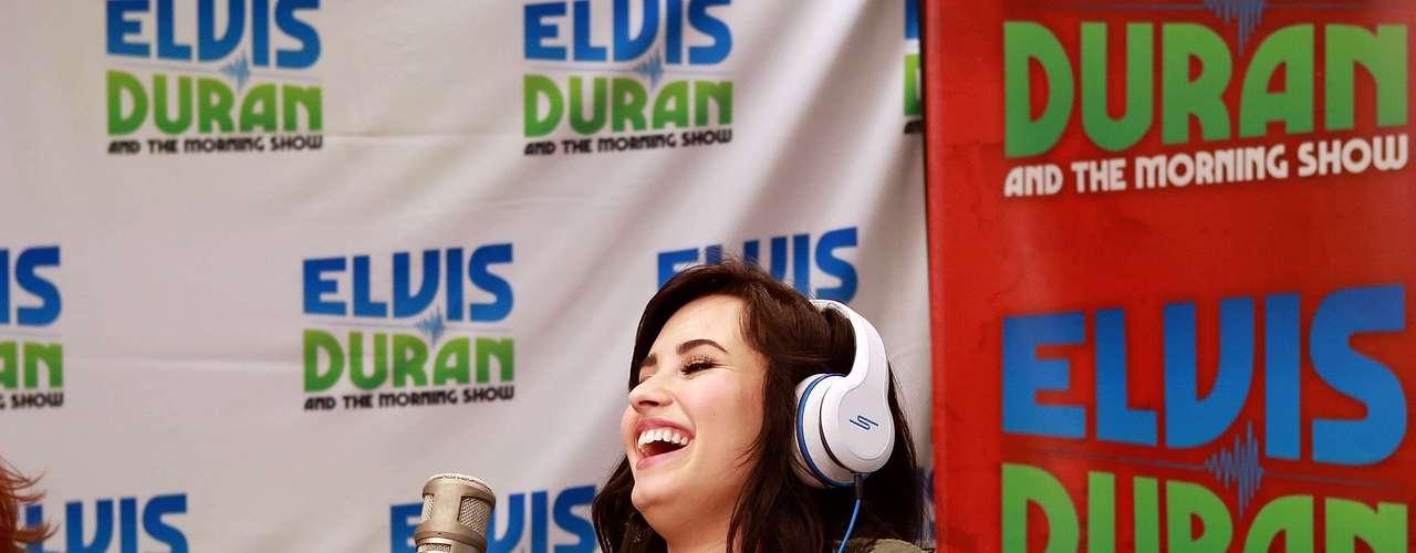 Demi Lovato visitó los estudios del programa \