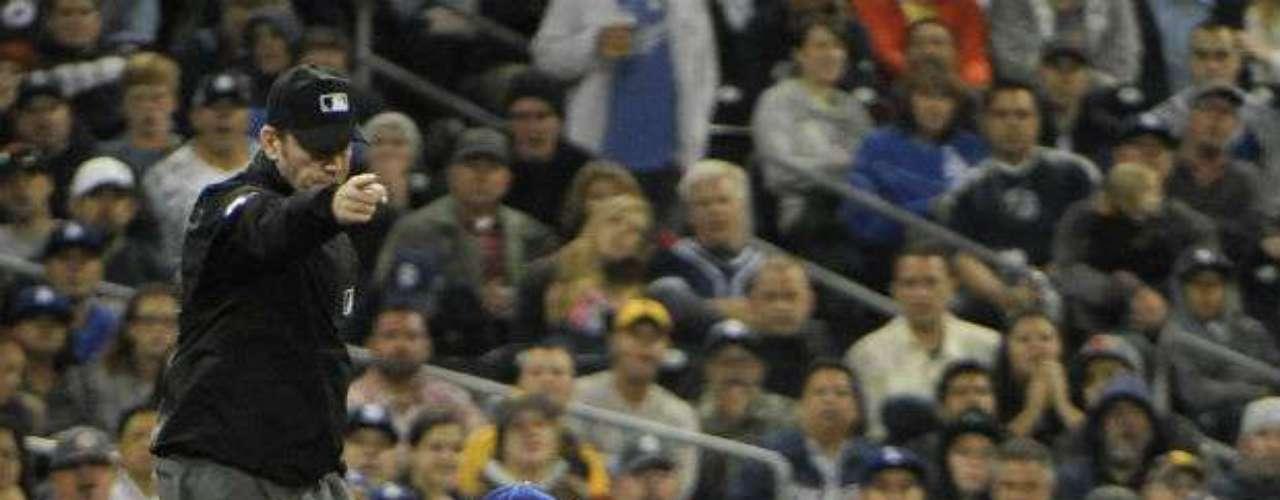 Esta fue un hit no pudo contener la defensiva de Dodgers.