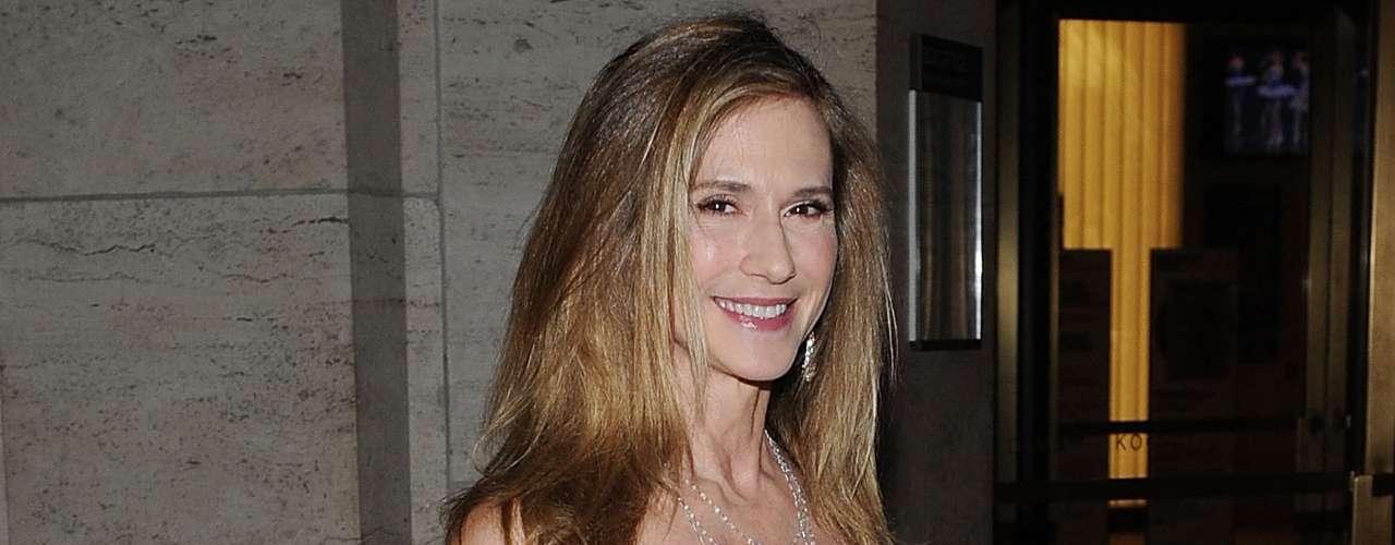 Aunque no le gusta hablar de sus hijos ante los medios, no es ningún secreto que Holly Hunter tuvo a sus gemelos en enero de 2006, a los 47 años de edad.