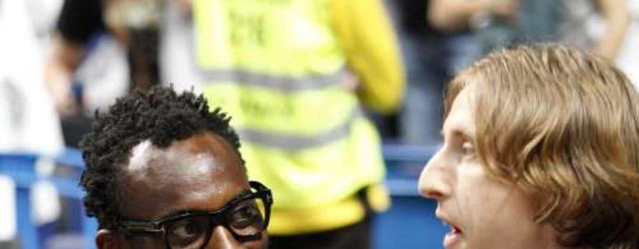 Luca Modric y Michael Essien.