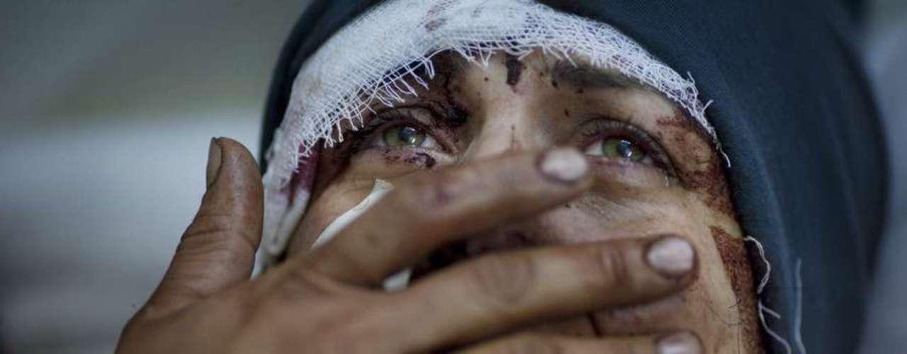 Guerra civil en Siria, en 2012. Por estos trabajos Abd ganó el premio Pulizter en la categoría \
