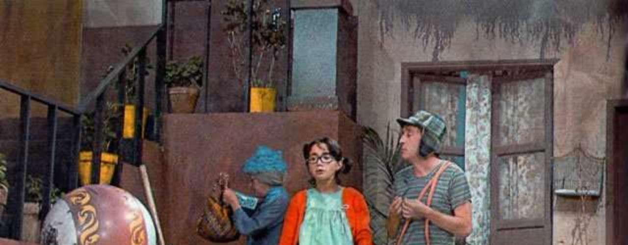 Esta imagen fue tomada durante la grabación de una de las escenas del Chavo del 8.