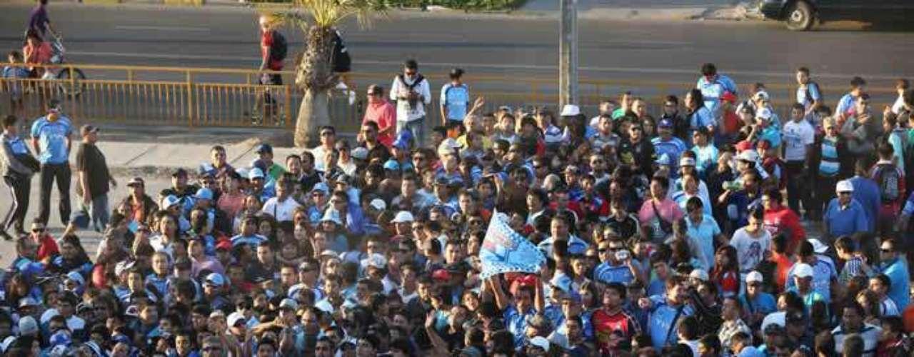 La intendencia Metropolitana dispuso de un inédito control para el ingreso de hinchas al estadio.