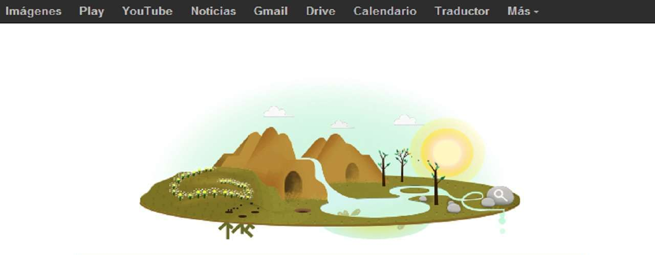 Este 22 de abril, el popular buscador Google dedica su página de inicio al Día Internacional de la Madre Tierra con una ilustración animada que recrea los ciclos de la naturaleza y la interrelación entre la tierra, el agua y el cielo.