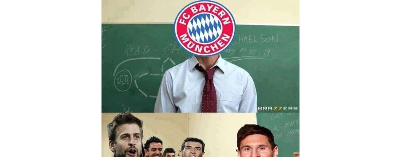 Bayern Munich gave Barcelona a soccer lesson.