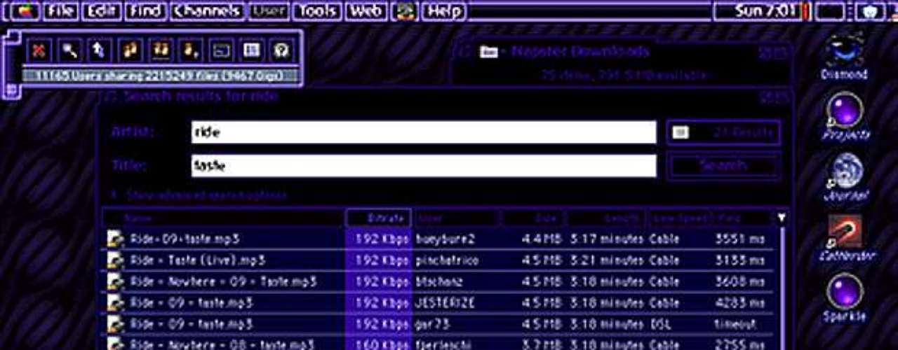 Napster, creado en 1999, fue el primer servicio de peer-to-peer (P2P) que se utiliza sobre todo para el intercambio de música en formato MP3. Más que un servicio de intercambio de archivos, Napster fue el precursor de una gran batalla que continúa en la actualidad entre los servicios P2P - que permiten la libre circulación de contenidos (incluidos los protegidos por derechos de autor) - y los gigantes de la industria de la música.