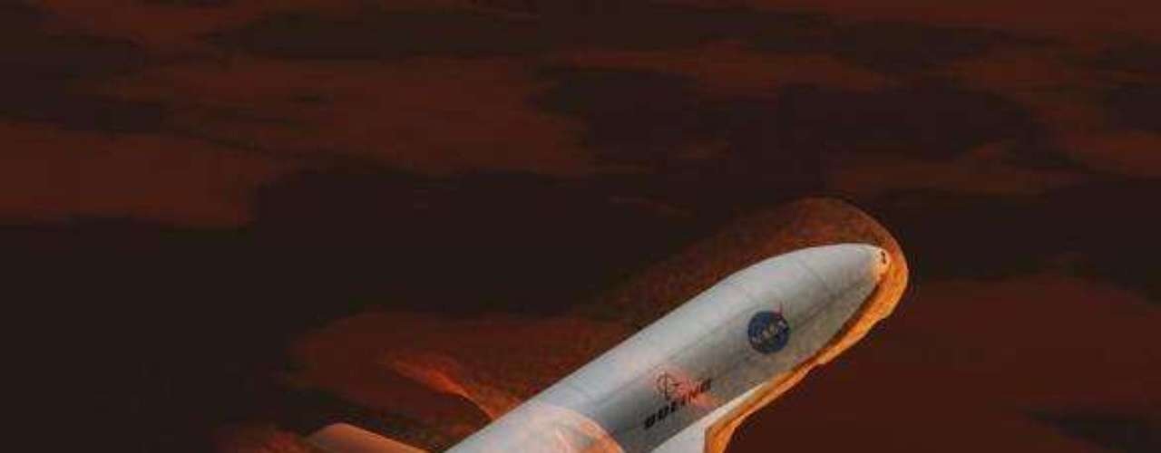 Representación artística del Vehículo de Prueba Orbital X-37 de la NASA.