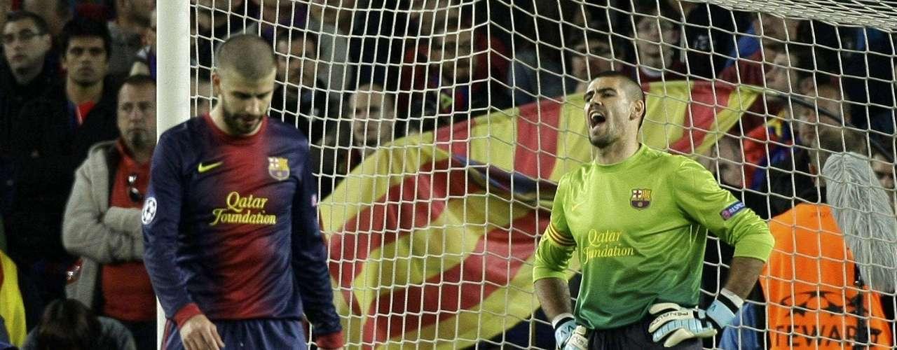 El otro héroe del Bayern fue Gerard Piqué, quien puso el 2-0 con un autogol al minuto 72. El portero Víctor Valdés no pudo evitar enojarse por el error.