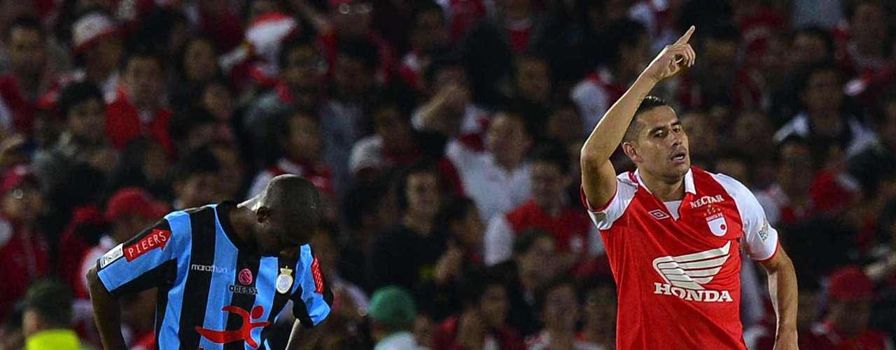 El segundo gol de Independiente Santa Fe lo marcó John Valencia