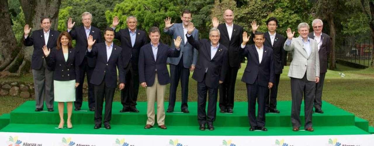 Peña Nieto también participó en la VII Cumbre de la Alianza del Pacífico, integrada por Colombia, Chile, Perú, y México.