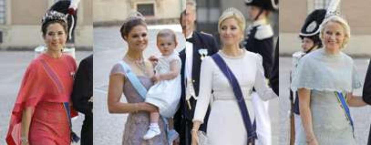 Mary Donaldson, Victoria de Suecia, Marie Chantal de Grecia y Mette Marit de Noruega.