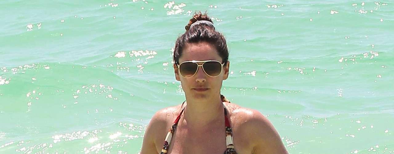 Se le vió por momentos disfrutar de las playas del caribe.