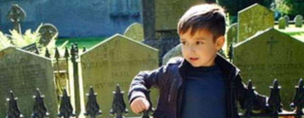 Su nombre es Alonso Mateo y tiene cinco años.