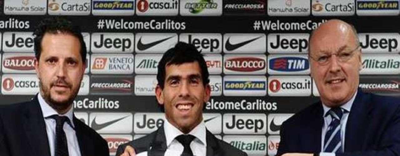 Tevez fue presentado en la Juventus.