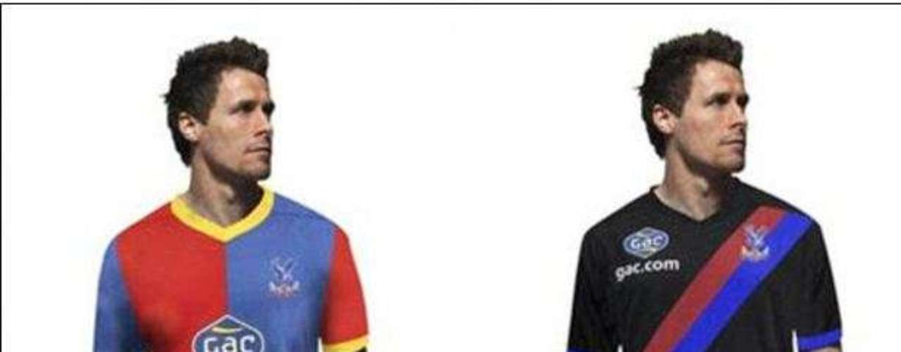 Crystal Palace will make Cardiff fans jealous with their stylish Premier League uniforms which still use the traditional team colors.